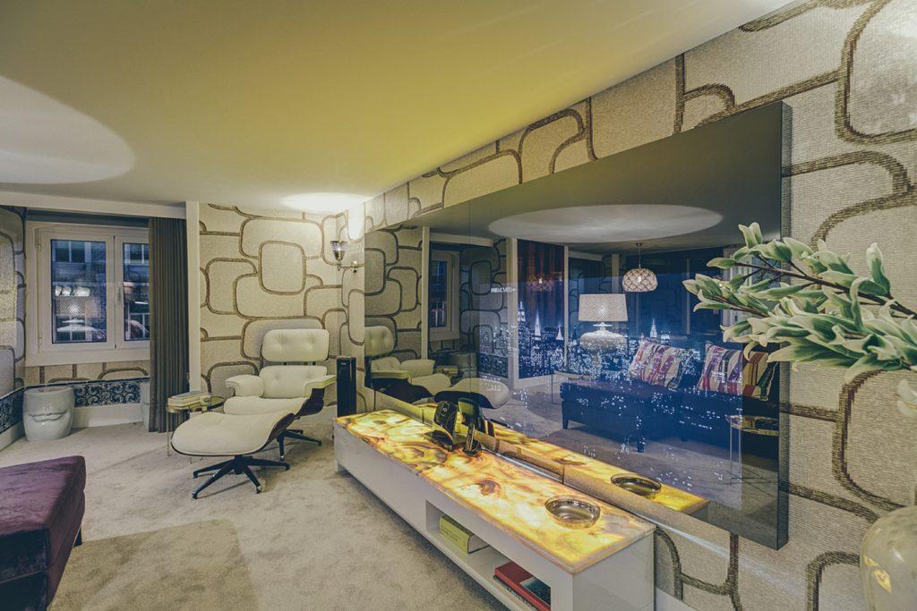 Deco Gem, Luxury in Bica, Gem Lisbon Rental Apartments, living room resting chair, big tv