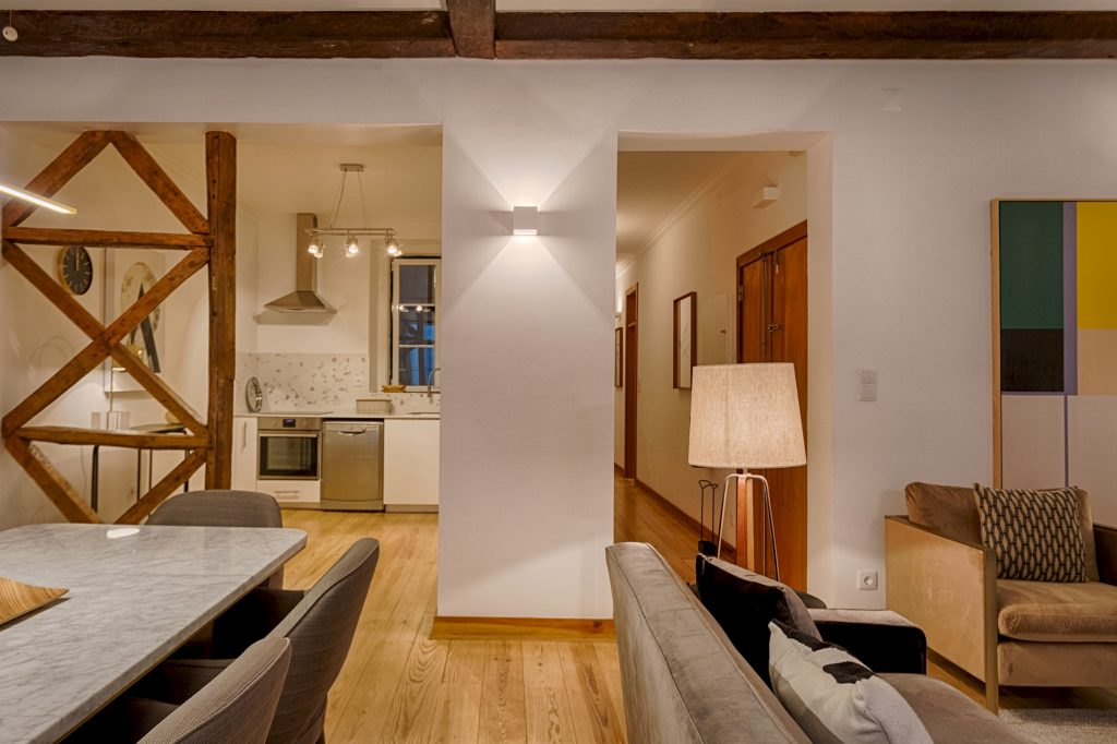 Gem Lisbon Rental Apartment, Master Historical Gem in Chiado, living room