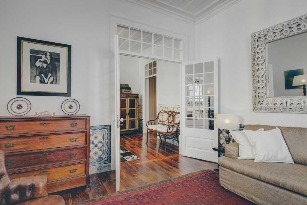 Gem Lisbon Rental Apartment, Architectural Gem in Baixa, Downtown, living room, traditional decoration, traditional tiles