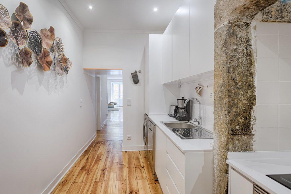 Gem Lisbon Rental Apartment, Architectural Gem in Bica, kitchen