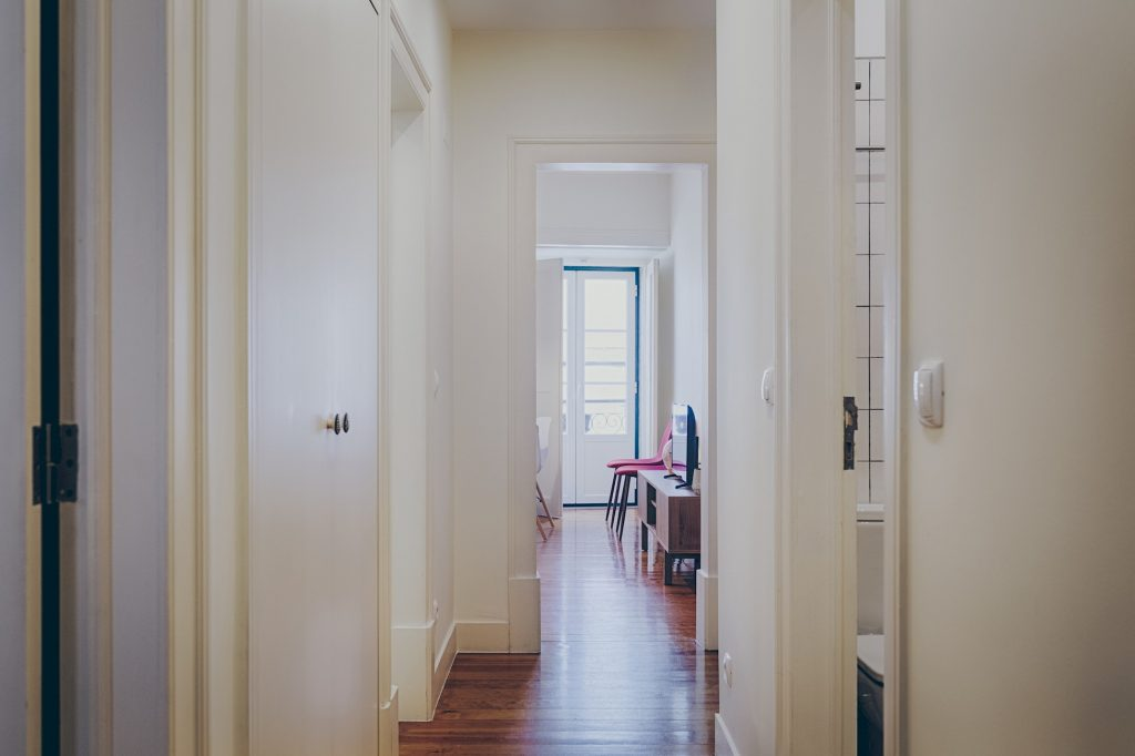 Gem Lisbon Rental Apartment, Historical Gem in Santa Catarina, corridor