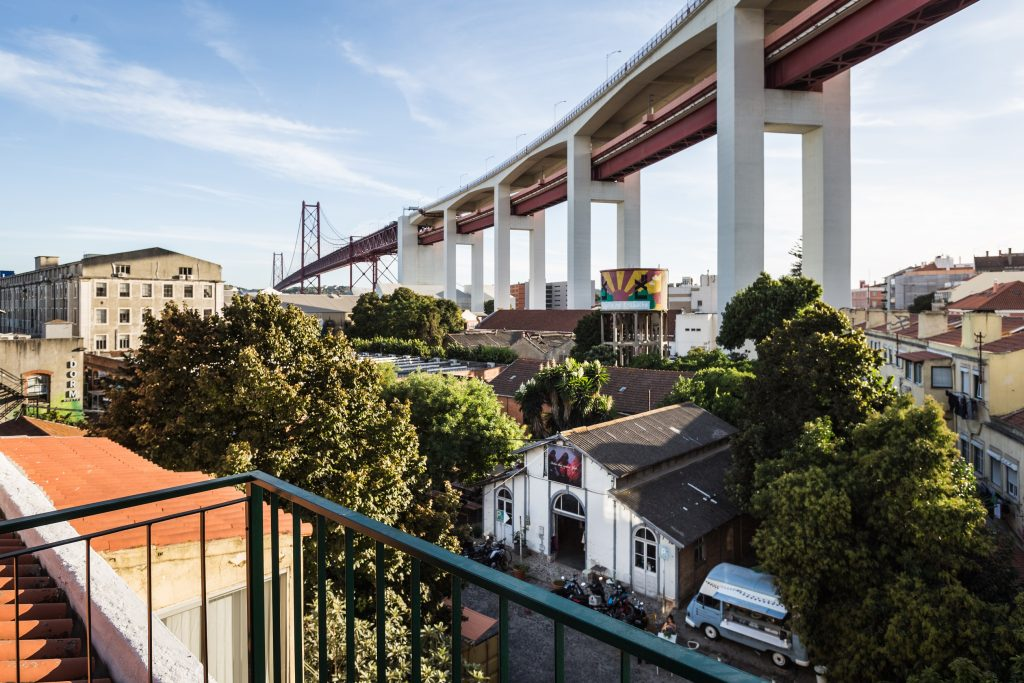 Romantic Gem in Alcântara, Gem Lisbon Rental Apartments, balcony, bridge over tagus river view