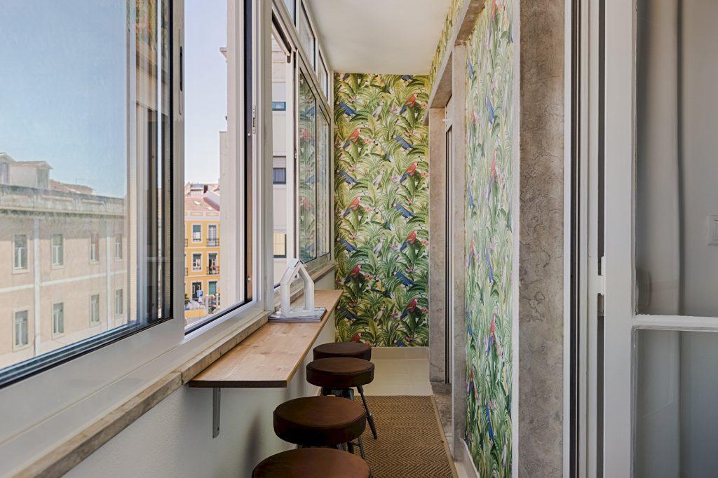 Gem Lisbon Rental Apartment, Master Deco Gem in Graça, covered balcony