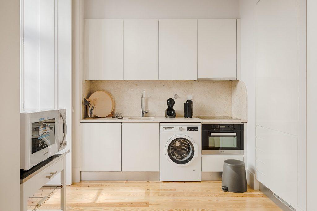 Gem Lisbon Rental Apartment, Architectural Gem in Baixa, kitchen