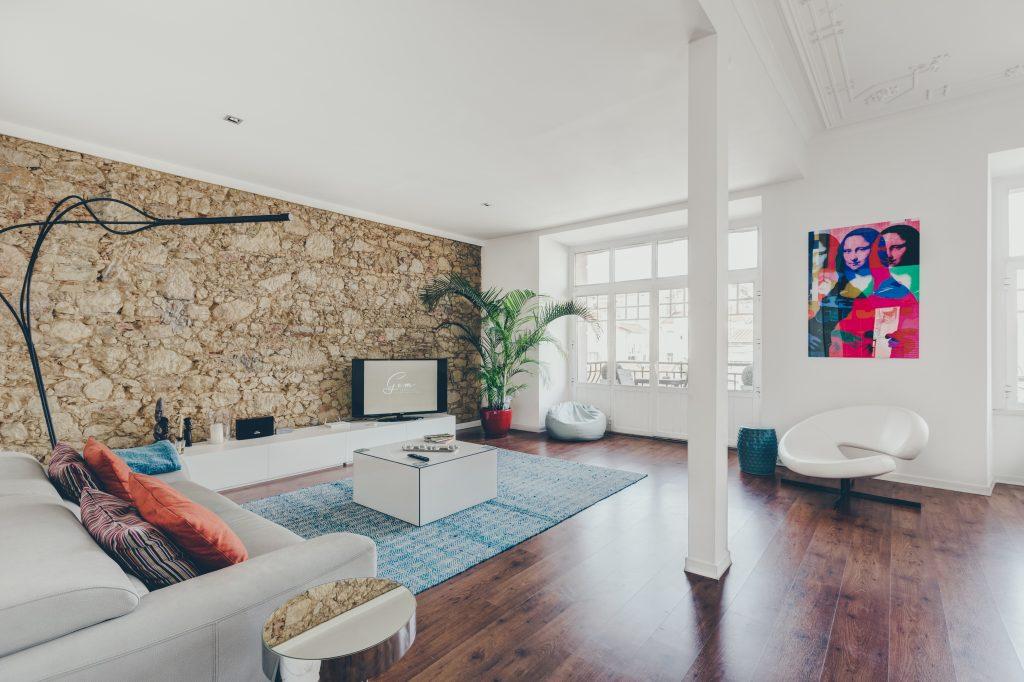 Gem Lisbon Rental Apartment, Master Deco Gem in City Center, living room