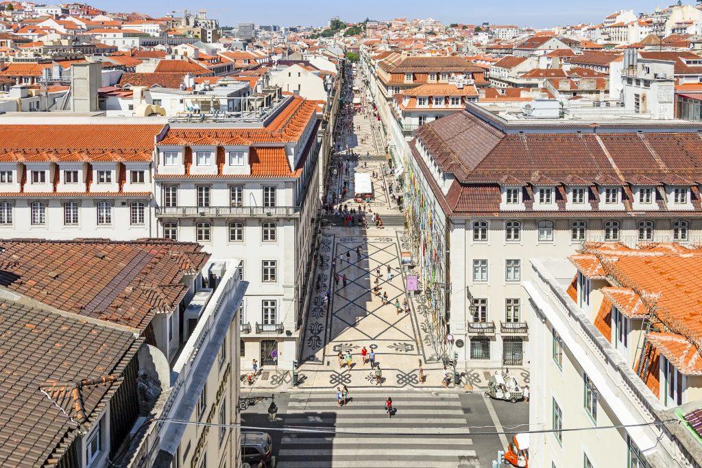 Baixa typical Lisbon Neighbourhood