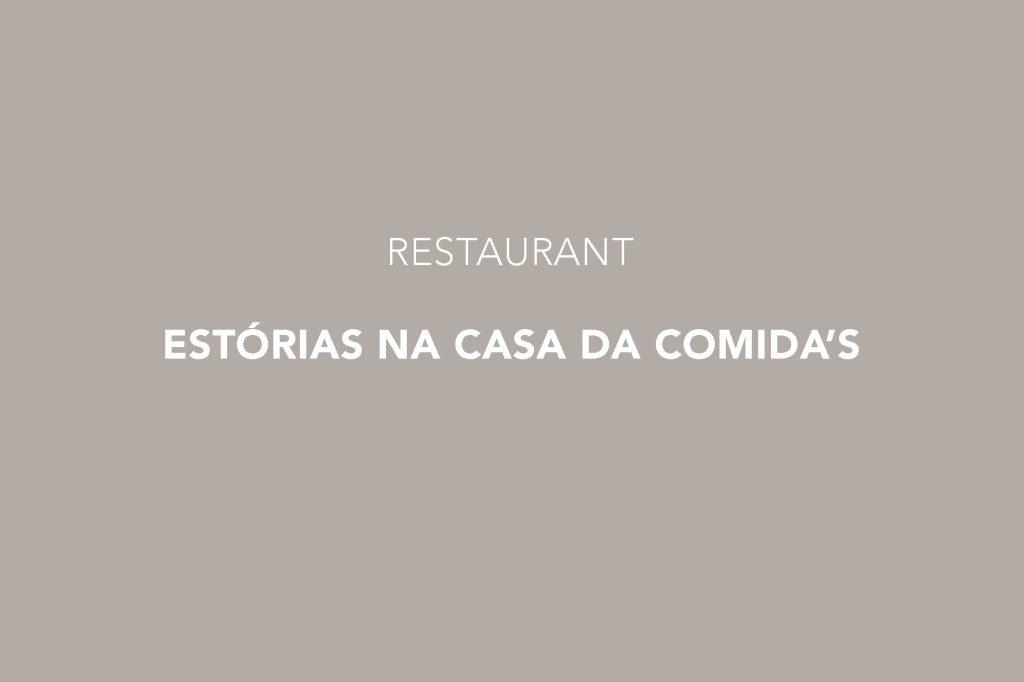 Estórias na Casa da Comida Restaurant, Lisbon, Estrela, Lisboa