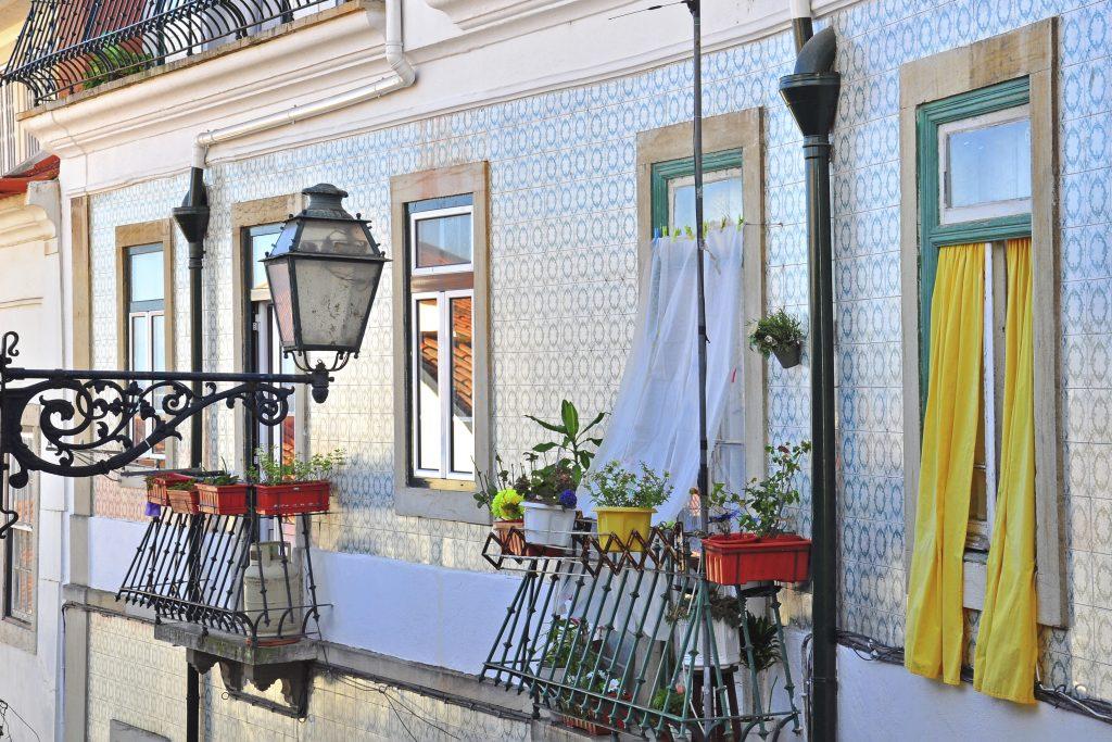 Graça Neighbourhood Facades details Lisbon